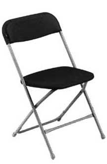 Where to find CHAIR, BLACK ALUMINUM in Tampa