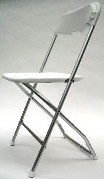 Where to find CHAIR, WHITE ALUMINUM in Tampa