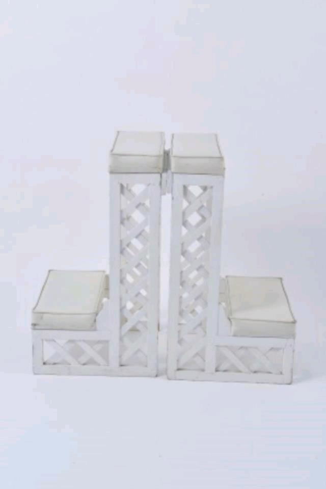 Where to find KNEELING BENCH WHITE LATTICE in Tampa