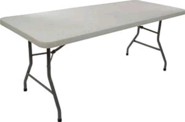 Where to find 6FT LONG PLASTIC TABLE in Tampa