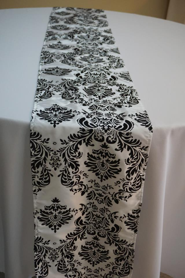 Where to find RUNNER BLACK WHITE DAMASK in Tampa