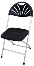 Rental store for CHAIR, BLACK FAN BACK in Tampa FL