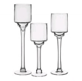 Rental store for VASE, PILLAR STEM CANDLE HOLDER SET OF 3 in Tampa FL