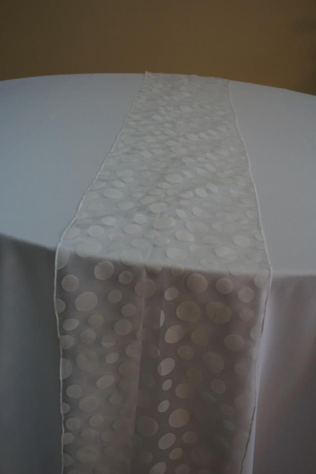 Where to find WHITE POLKA DOT SHEER RUNNER in Tampa