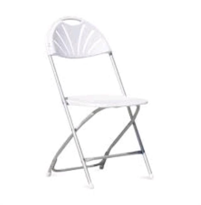 Where to find CHAIR, WHITE FAN BACK in Tampa
