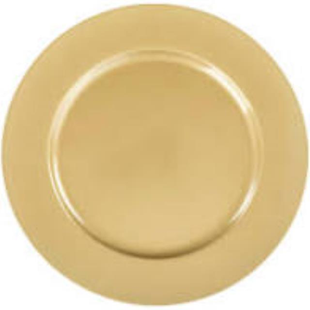 Where to find PLATE, 13  CHARGER GOLD FLAT in Tampa